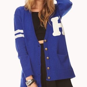 Blue Varsity Sweater